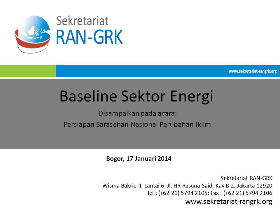 Sekretariat RAN-GRK Wisma Bakrie II, Lantai 6, Jl. HR Rasuna Said, Kav B-2, Jakarta 12920 Tel : (+62 21) 5794 2105; Fax : (+62 21) 5794 2106 www.sekre