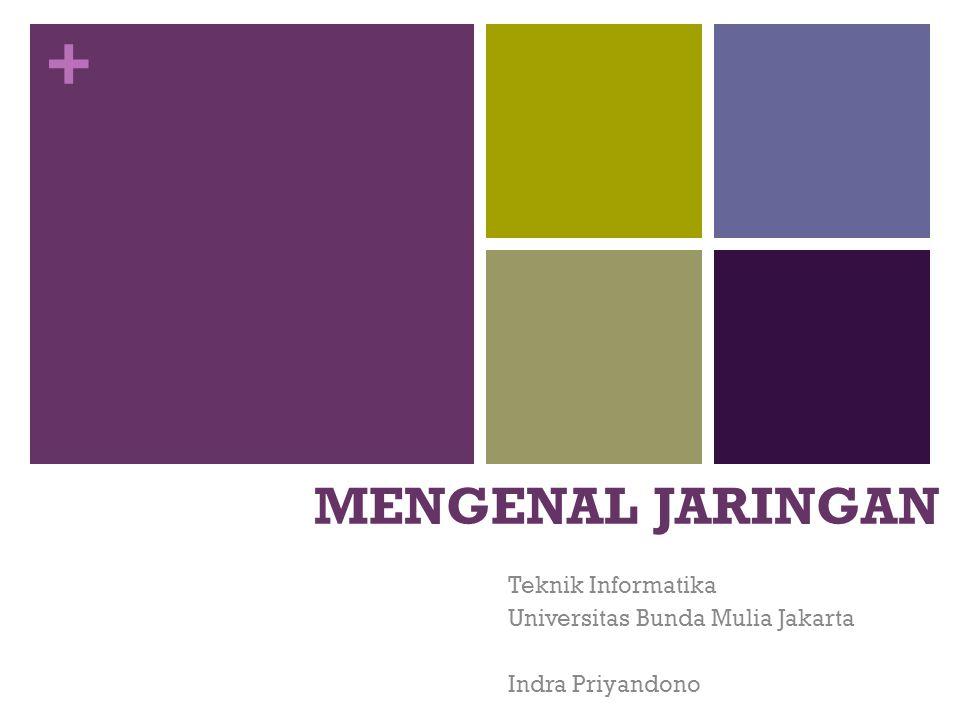 + MENGENAL JARINGAN Teknik Informatika Universitas Bunda Mulia Jakarta Indra Priyandono