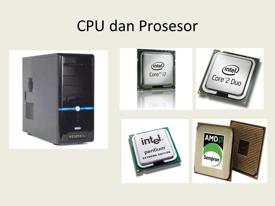 Memori • Memori adalah perangkat keras yang berungsi untuk menyimpan informasi (berupa perintah atau data) sebelum atau sesudah diproses oleh prosesor.