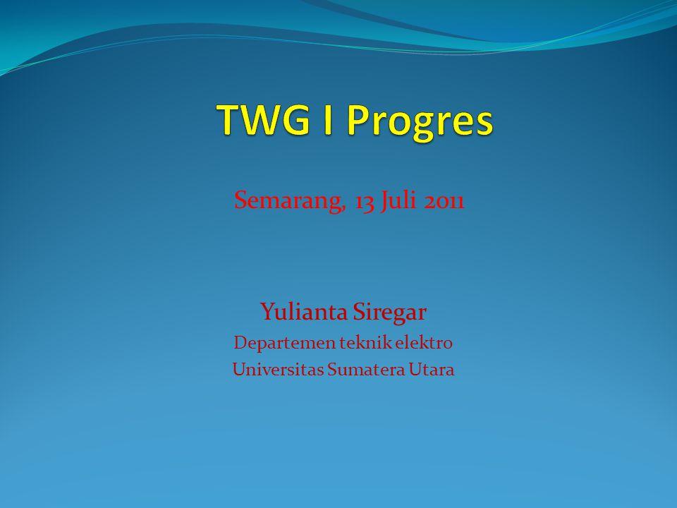 Yulianta Siregar Departemen teknik elektro Universitas Sumatera Utara Semarang, 13 Juli 2011