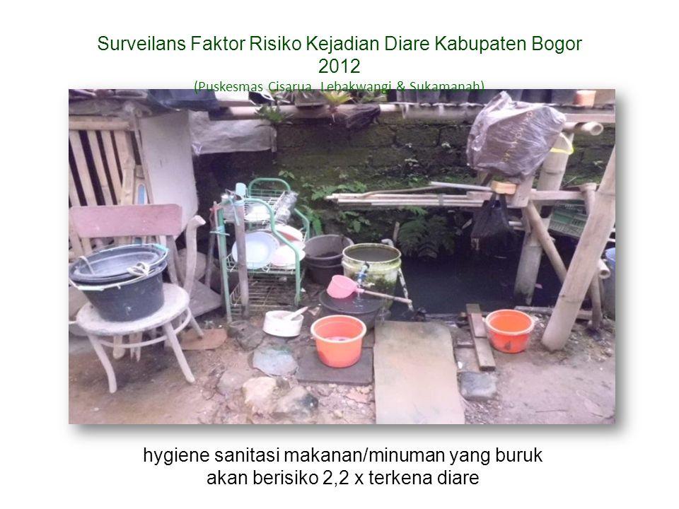 Surveilans Faktor Risiko Kejadian Diare Kabupaten Bogor 2012 (Puskesmas Cisarua, Lebakwangi & Sukamanah) hygiene sanitasi makanan/minuman yang buruk a