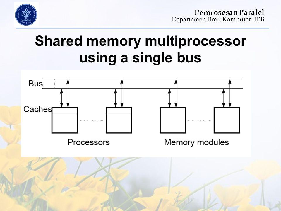 Departemen Ilmu Komputer -IPB Pemrosesan Paralel Shared memory multiprocessor using a single bus
