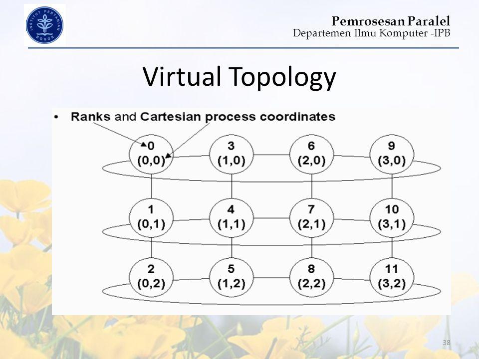 Departemen Ilmu Komputer -IPB Pemrosesan Paralel Virtual Topology 38