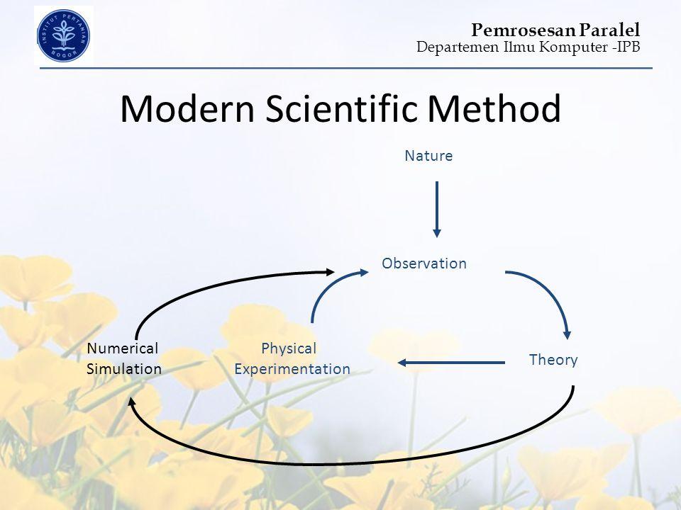 Departemen Ilmu Komputer -IPB Pemrosesan Paralel Modern Scientific Method Nature Observation Theory Physical Experimentation Numerical Simulation