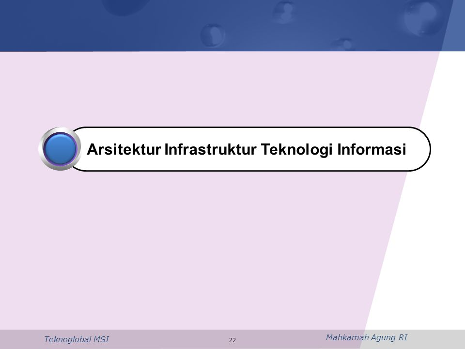 Mahkamah Agung RI Teknoglobal MSI 22 Arsitektur Infrastruktur Teknologi Informasi