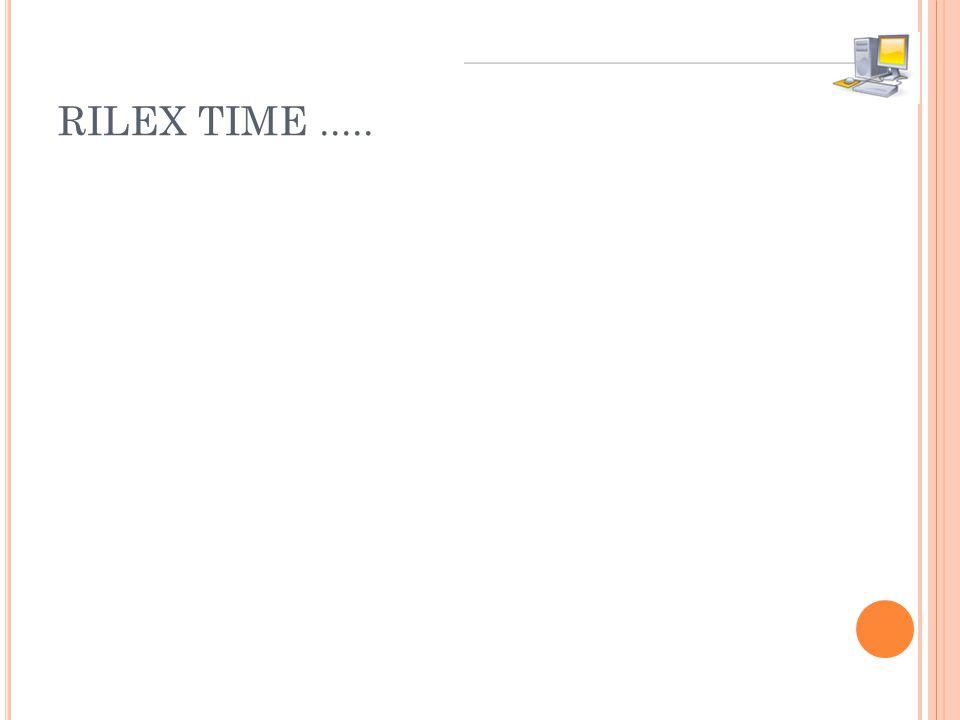 RILEX TIME.....