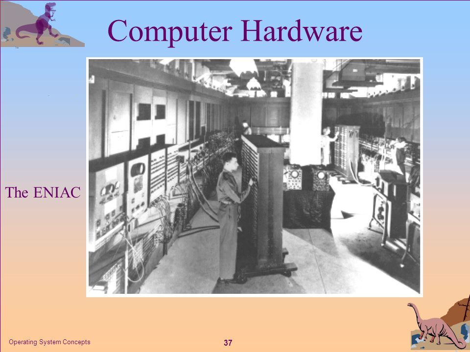 37 Operating System Concepts The ENIAC Computer Hardware