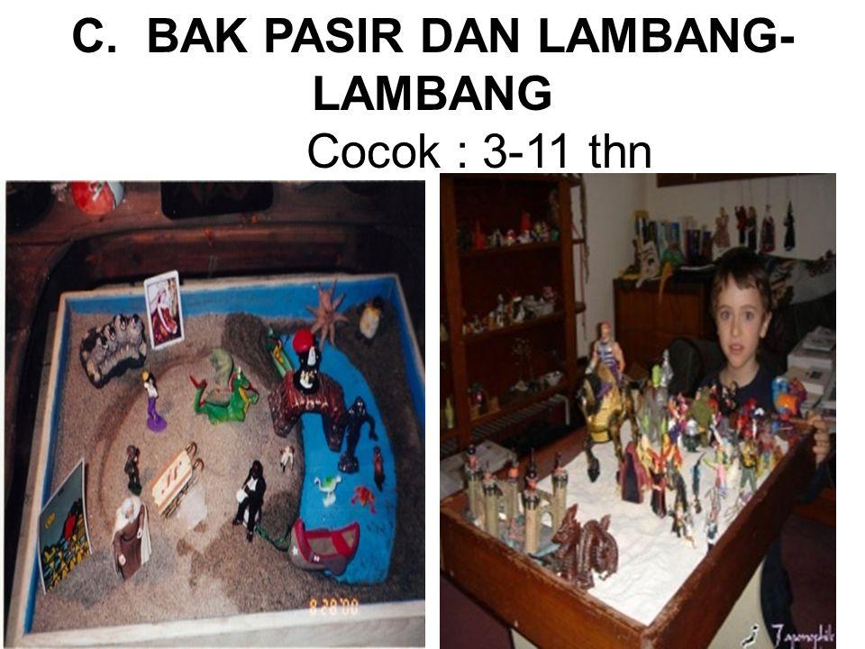 C. BAK PASIR DAN LAMBANG- LAMBANG Cocok : 3-11 thn