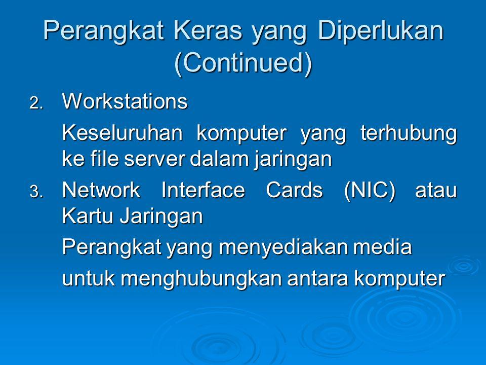 Perangkat Keras yang Diperlukan (Continued) 2.
