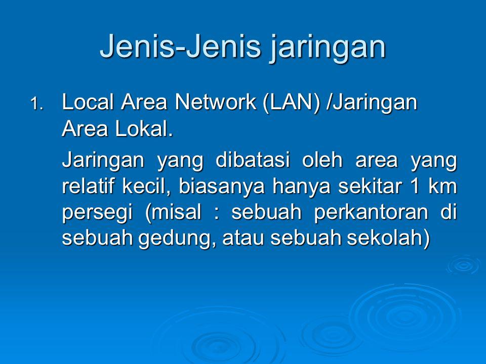 Topologi jaringan yang umum dipakai adalah : 1.