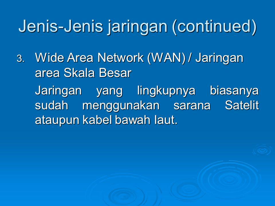 Jenis-Jenis jaringan (continued) 3.
