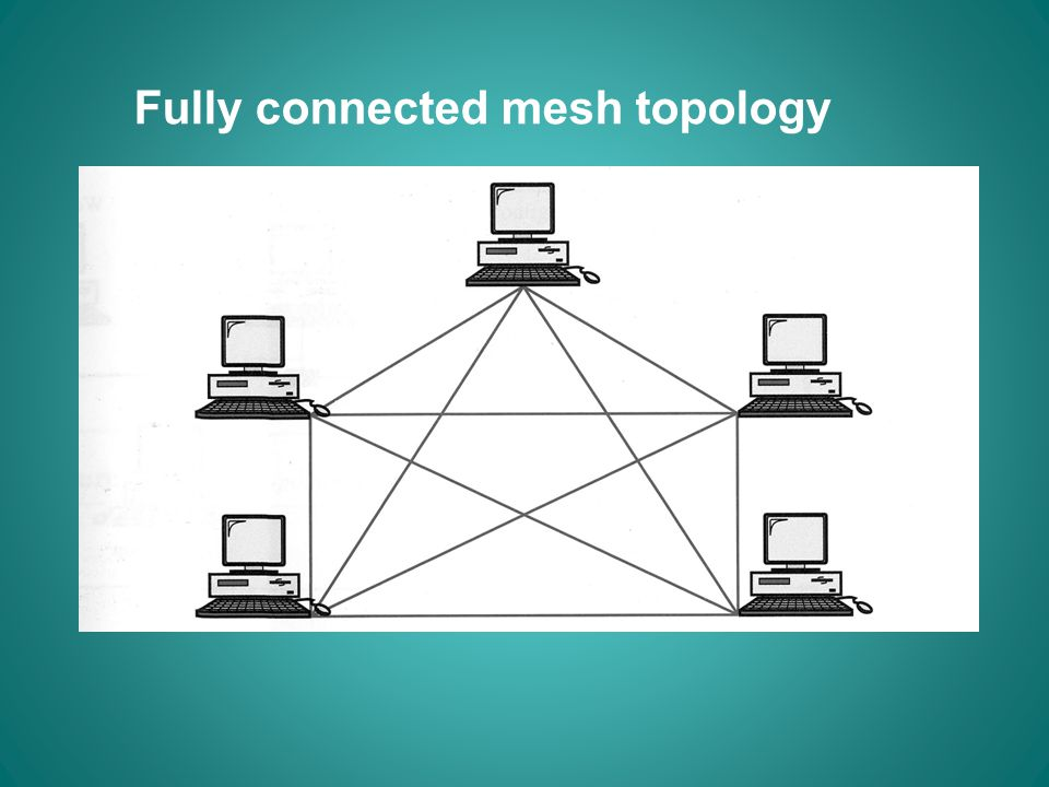 Fully connected mesh topology