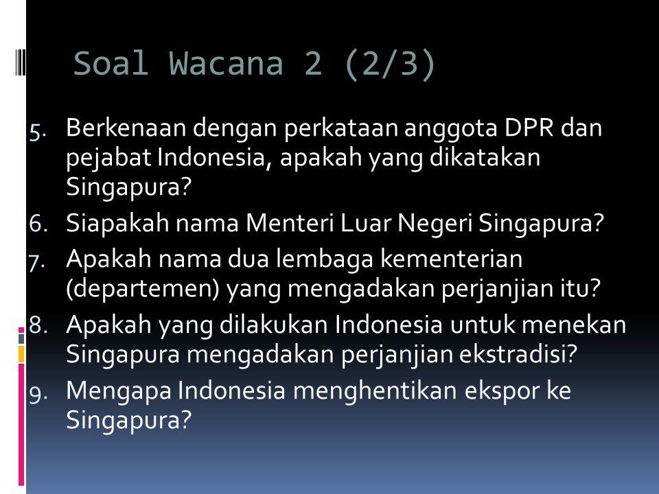 Soal Wacana 2 (2/3) 5.