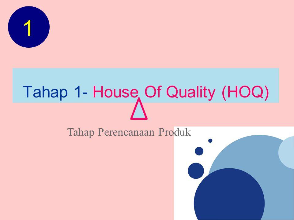 Tahap 1- House Of Quality (HOQ) Tahap Perencanaan Produk 1