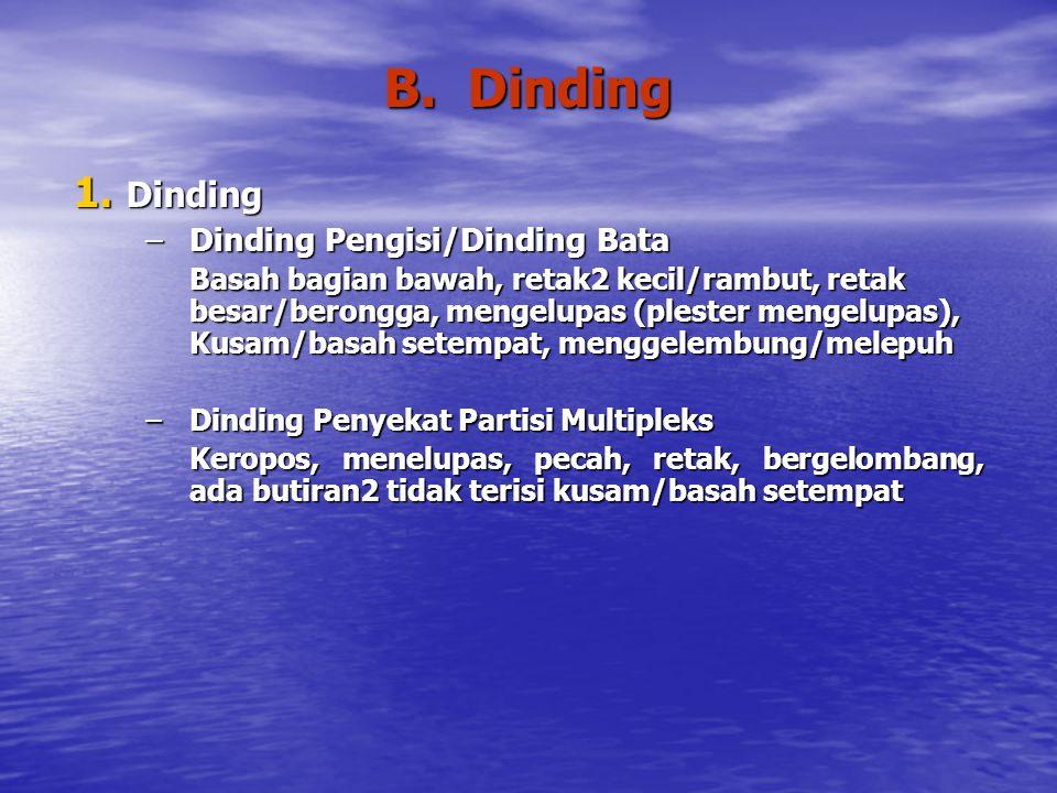 B.Dinding 1.