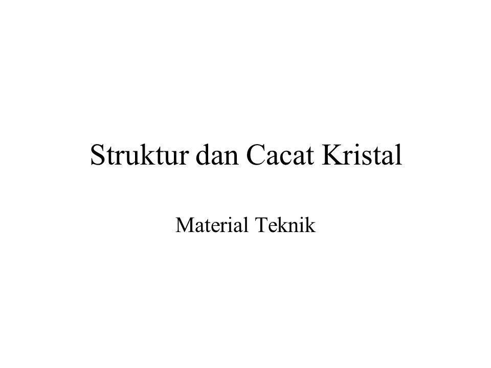 Struktur dan Cacat Kristal Material Teknik