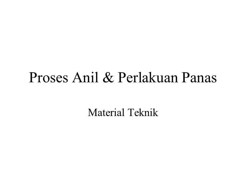 Proses Anil & Perlakuan Panas Material Teknik