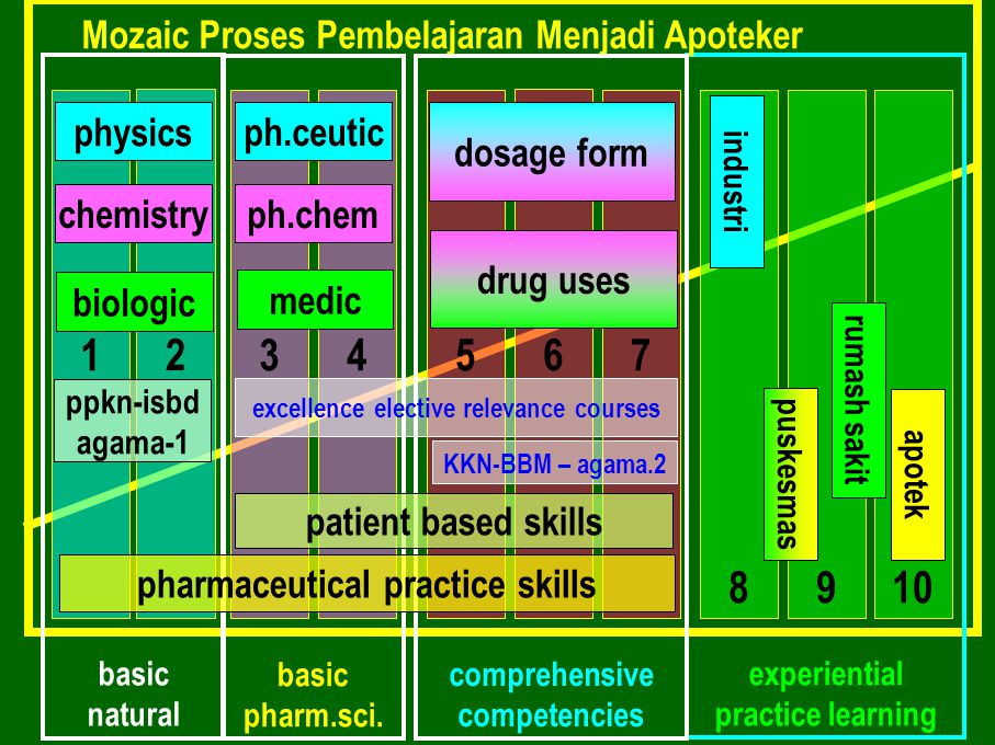 basic natural experiential practice learning Mozaic Proses Pembelajaran Menjadi Apoteker 134 2 57 8 6 910 comprehensive competencies basic pharm.sci.