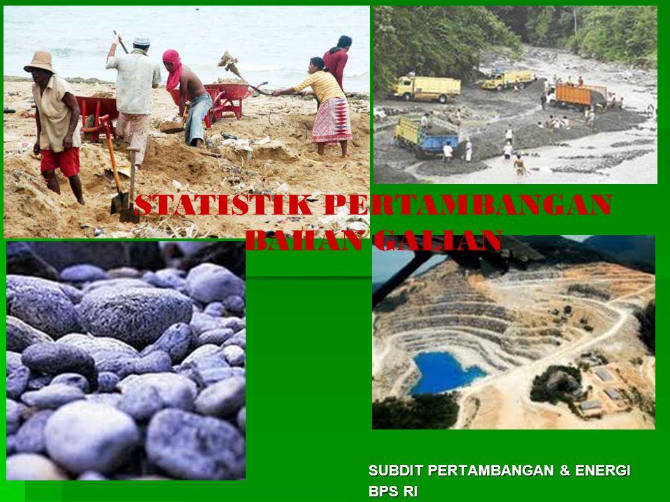 SUBDIT PERTAMBANGAN & ENERGI BPS RI STATISTIK PERTAMBANGAN BAHAN GALIAN