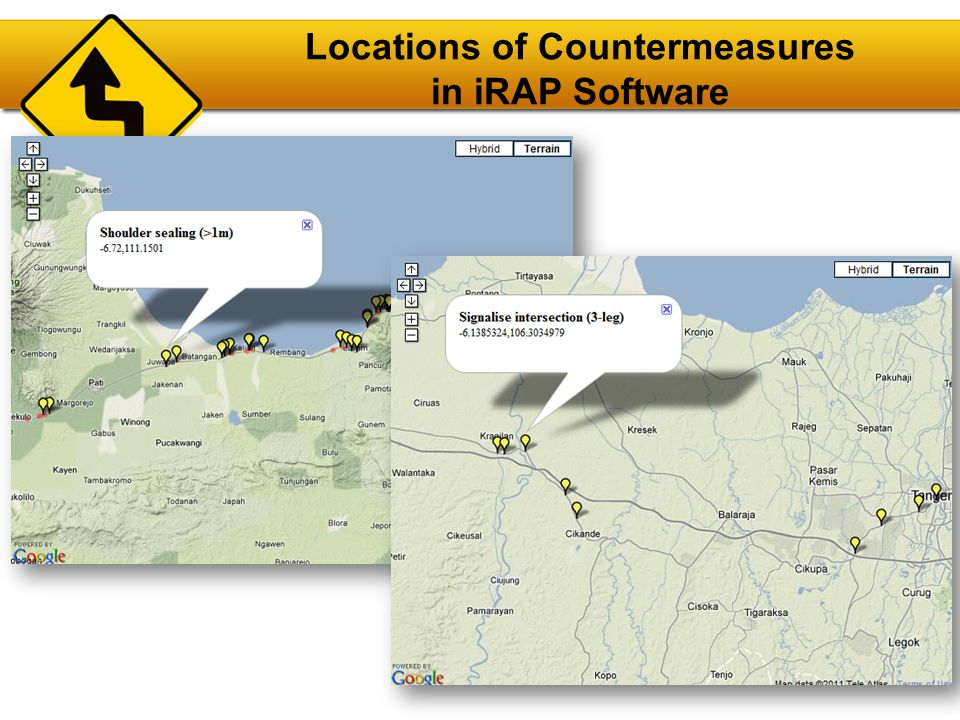 Locations of Countermeasures in iRAP Software