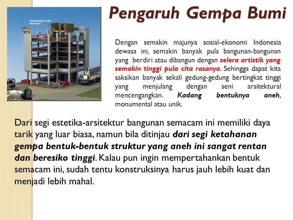 Dengan semakin majunya sosial-ekonomi Indonesia dewasa ini, semakin banyak pula bangunan-bangunan yang berdiri atau dibangun dengan selera artistik ya