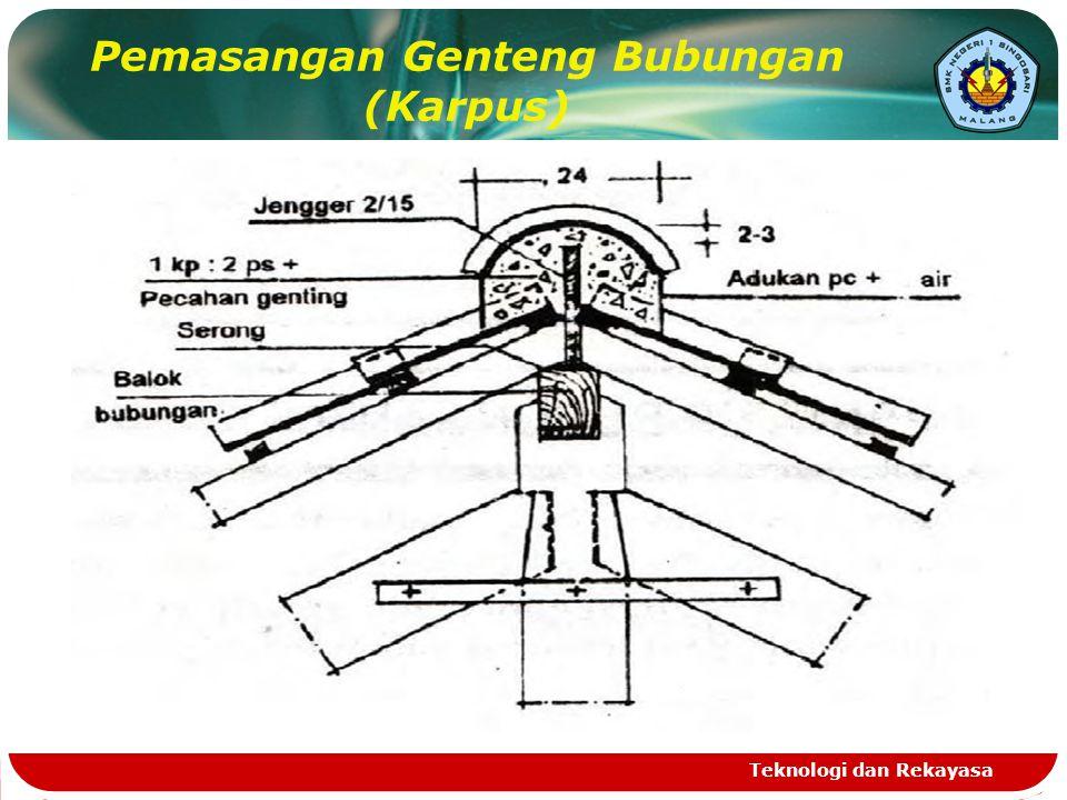 Pemasangan Genteng Bubungan (Karpus) Teknologi dan Rekayasa