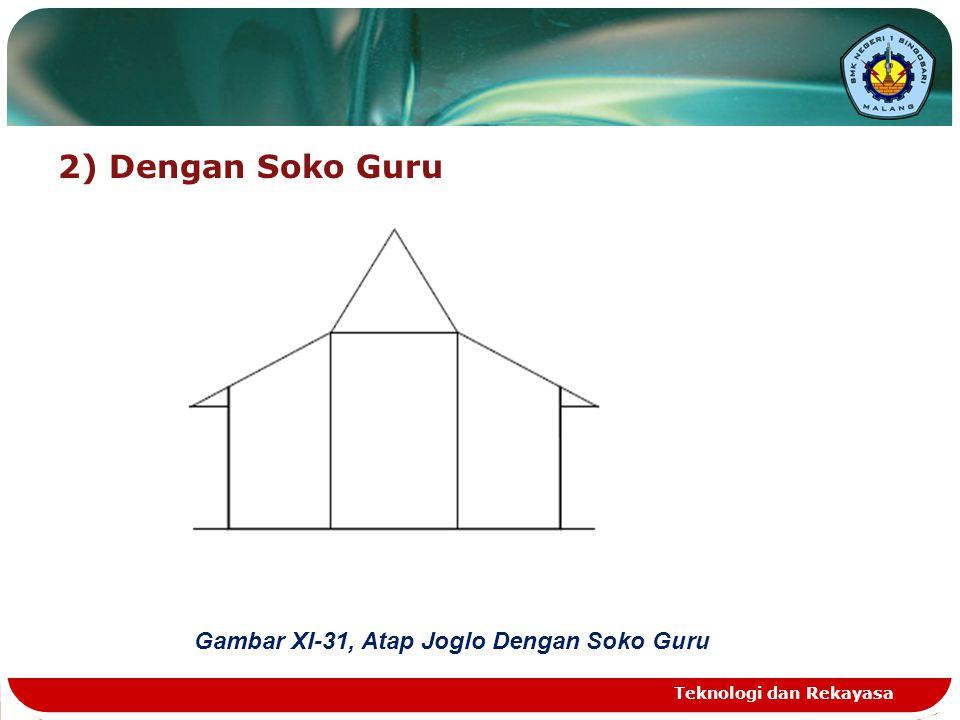 2) Dengan Soko Guru Teknologi dan Rekayasa Gambar XI-31, Atap Joglo Dengan Soko Guru