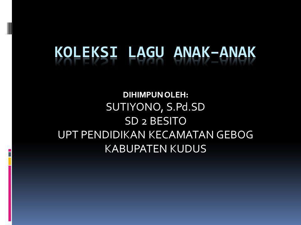 KEANEKARAGAMAN SUKU BANGSA (dinyanyikan seperti lagu Balonku) Bermacam-macam suku Jawa Batak dan Sunda Aceh Minang Melayu Dan masih banyak lagi Ragam kebudayaan...