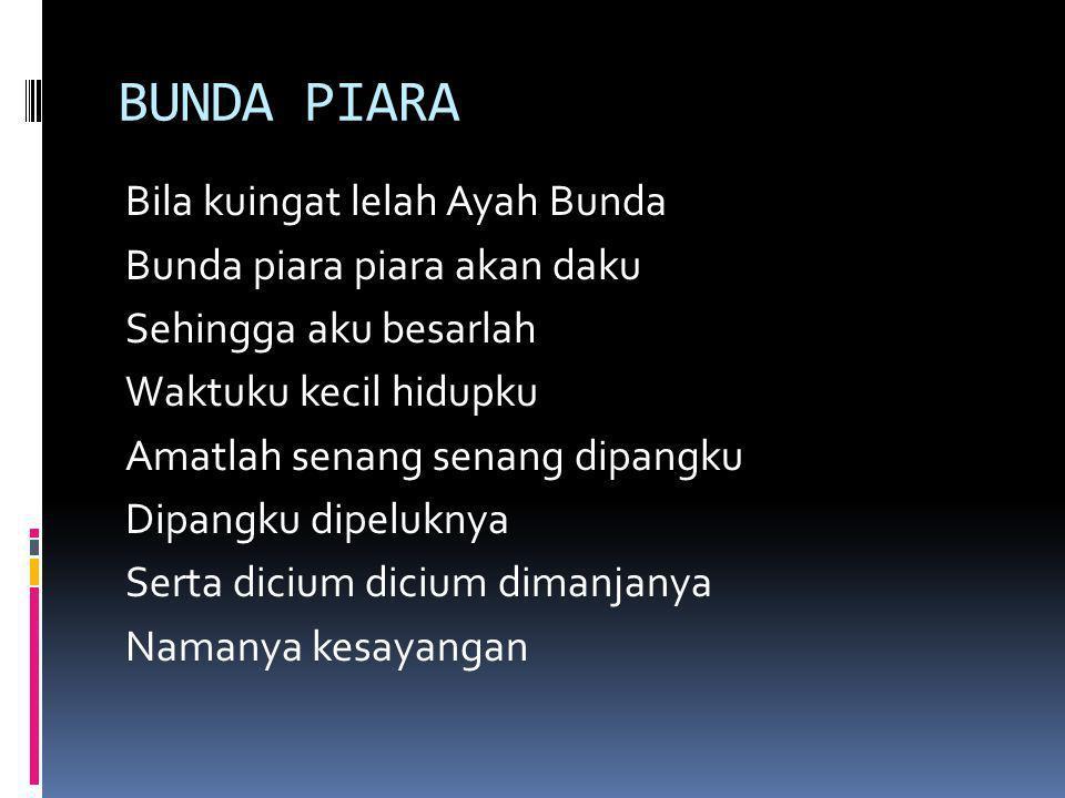 Garuda Pancasila (Sudharnoto) Garuda pancasila Akulah pendukungmu Patriot proklamasi Sedia berkorban untukmu Pancasila dasar negara Rakyat adil makmur sentosa Pribadi bangsaku