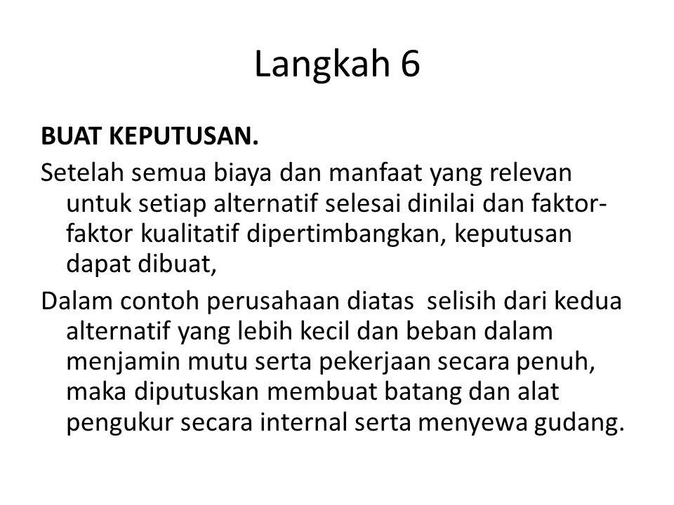 Langkah 6 BUAT KEPUTUSAN.