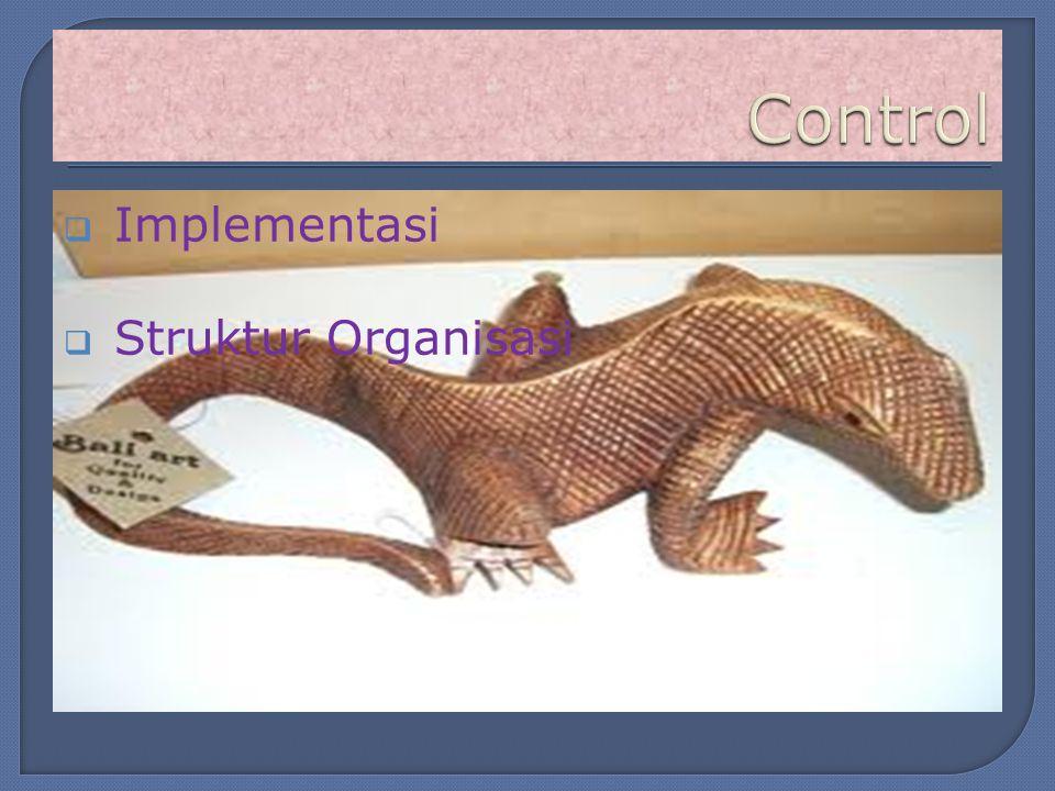  Implementasi  Struktur Organisasi