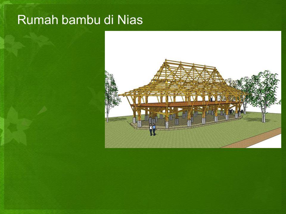 Rumah bambu di Nias