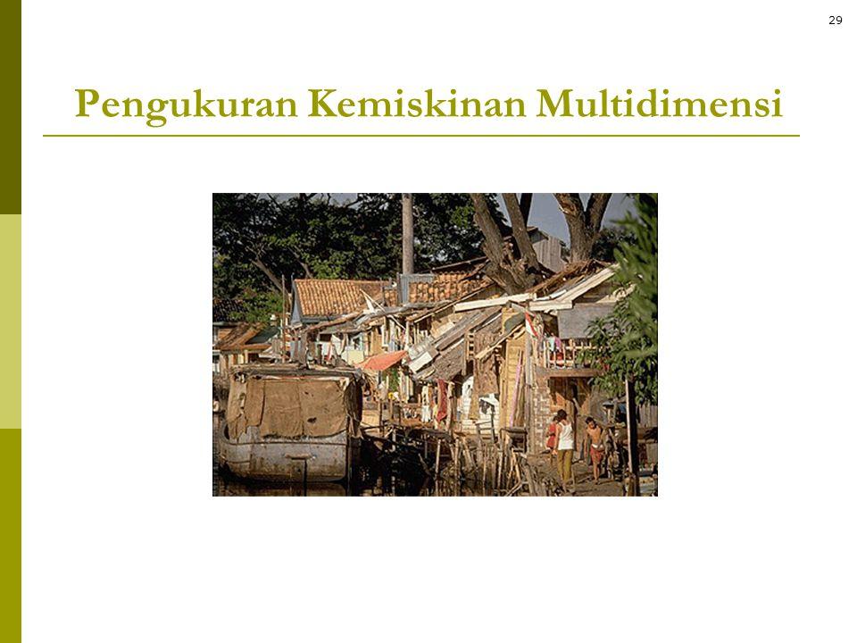 Pengukuran Kemiskinan Multidimensi 29