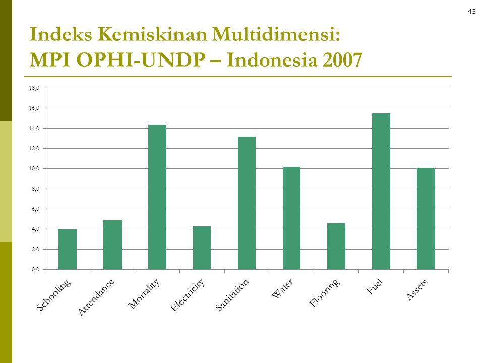 Indeks Kemiskinan Multidimensi: MPI OPHI-UNDP – Indonesia 2007 43