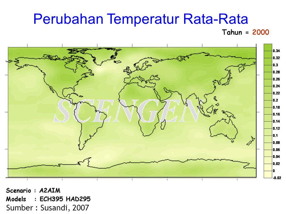 Sumber : Susandi, 2007 Perubahan Temperatur Rata-Rata