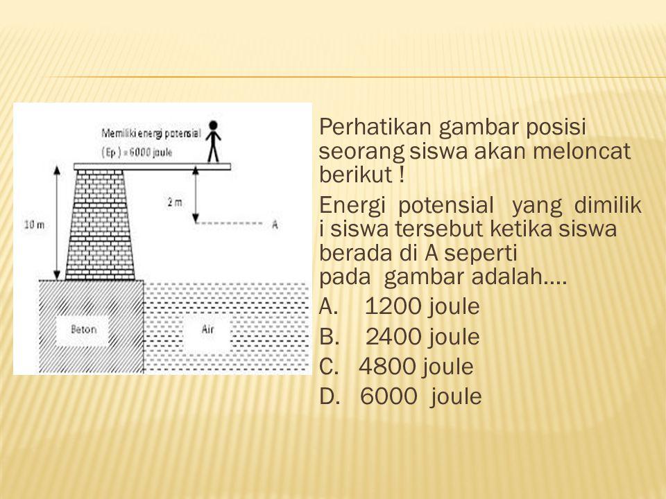 Perhatikan gambar posisi seorang siswa akan meloncat berikut .