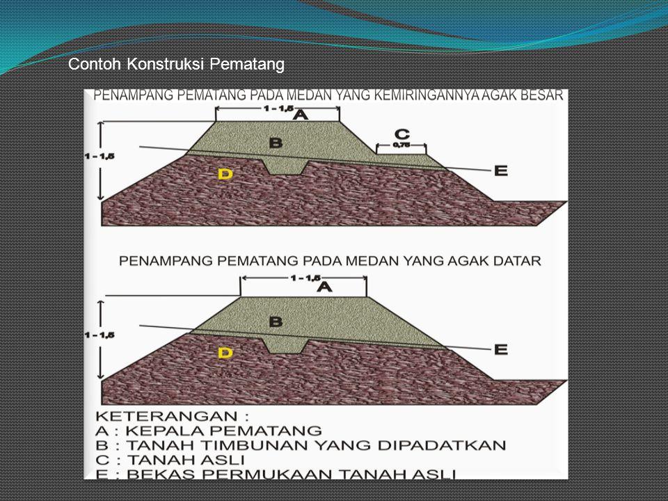 Contoh Konstruksi Pematang