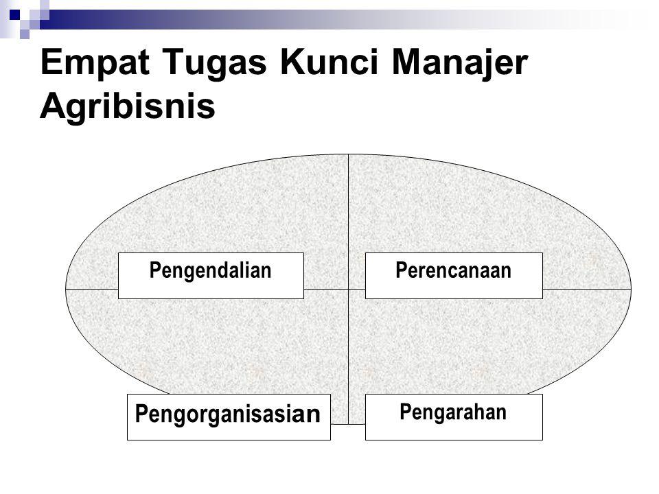 Empat Tugas Kunci Manajer Agribisnis PengendalianPerencanaan Pengarahan Pengorganisasi an