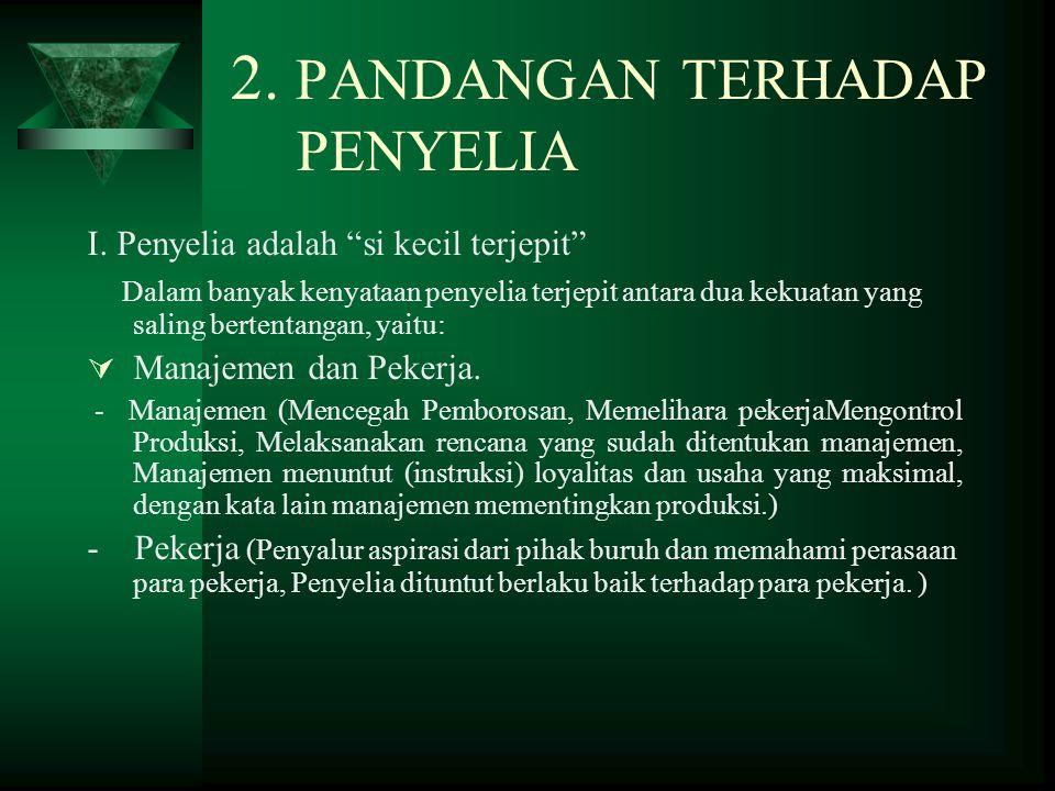 2.PANDANGAN TERHADAP PENYELIA I.