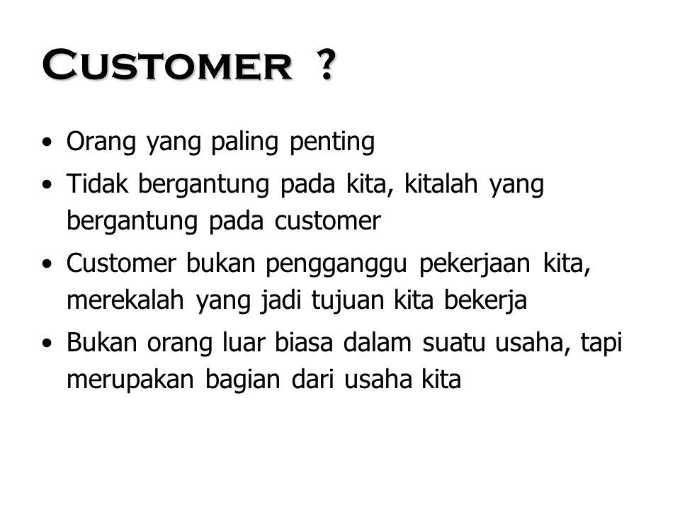 lanjutan Customer ….