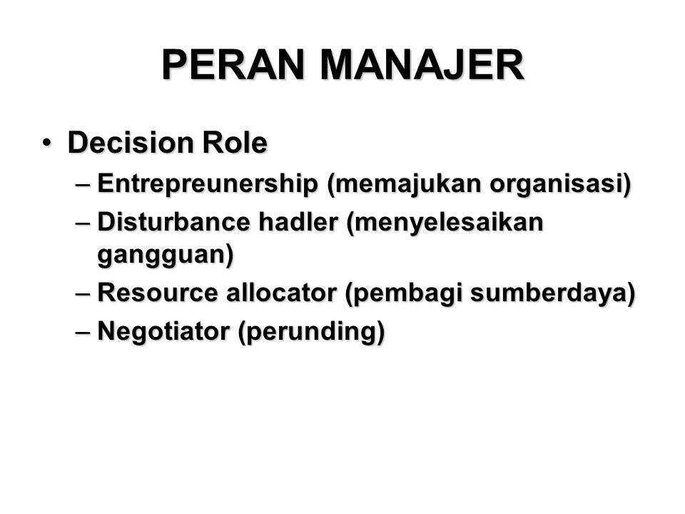 KETRAMPILAN MANAJERIAL ( 3 C ) •Conceptual Skill •Conection/Human Skill •Competent/Technical Skill