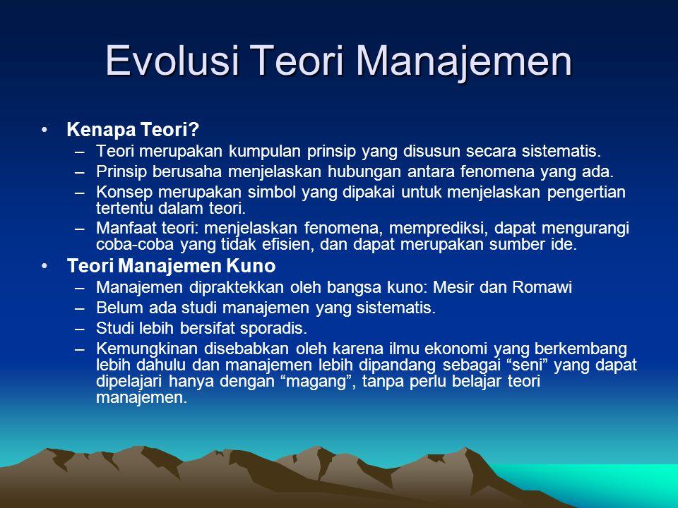 Manajer dan Organisasi (5) •Menjadi Manajer yang Sukses –Tidak ada formula pasti; tetapi manajer yang efektif tidak lepas dari: •Pendidikan •Pengalaman •Visi •Etika •Dimensi Internasional