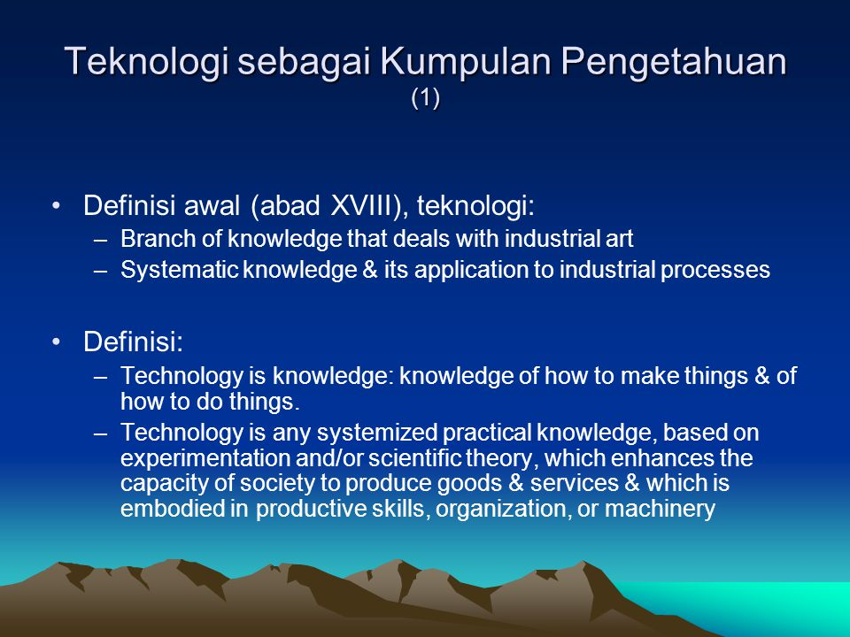 Manajemen Teknologi Ruang Lingkup (4)