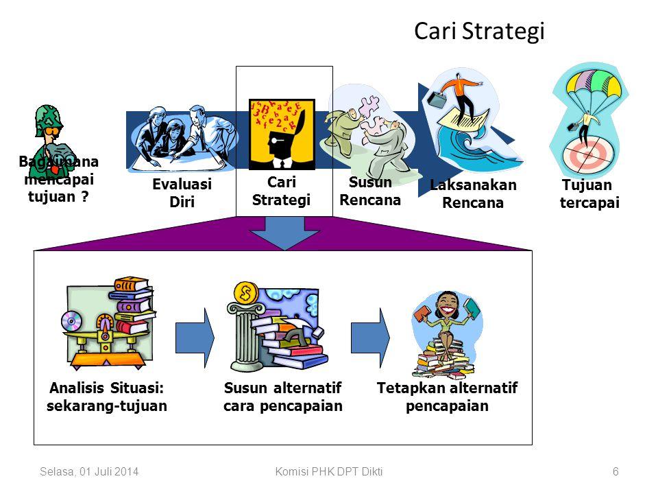 Selasa, 01 Juli 2014Komisi PHK DPT Dikti6 Cari Strategi Tujuan tercapai Laksanakan Rencana Evaluasi Diri Bagaimana mencapai tujuan .