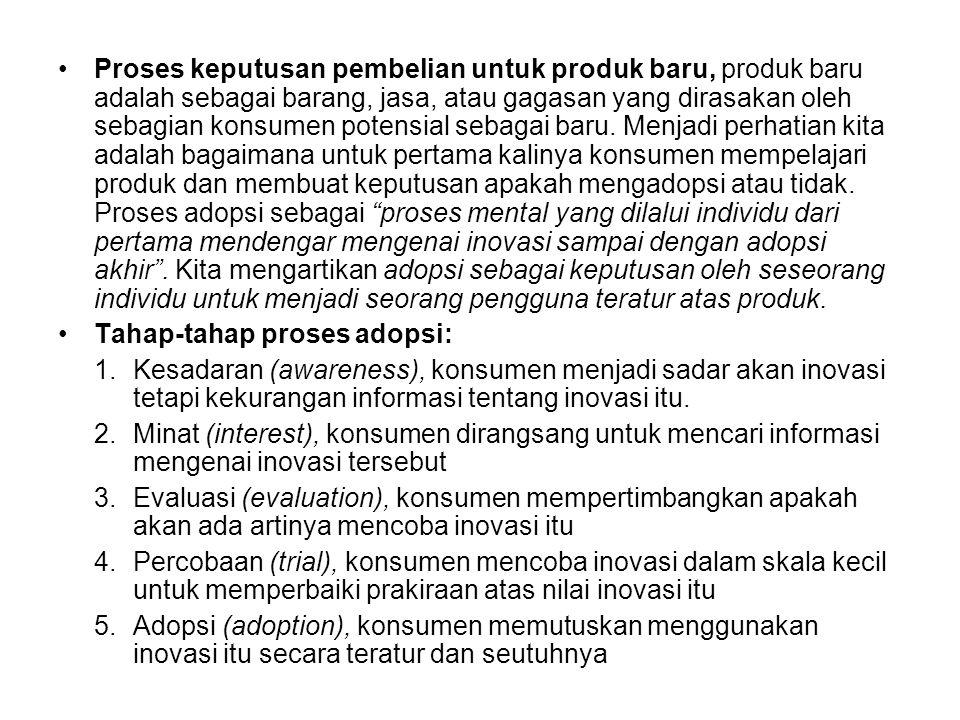 •Tahap-tahap dalam proses keputusan pembelian, lima tahap proses pembelian konsumen: 1.Pengenalan kebutuhan (need recognition) 2.Pencarian informasi (