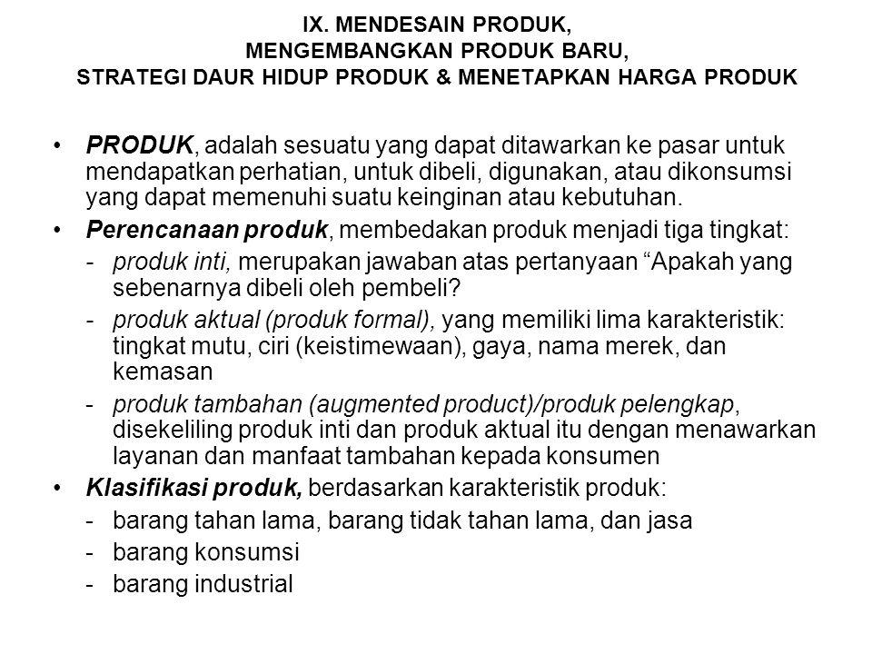 c.PENENTUAN POSISI PASAR Posisi sebuah produk adalah seperangkat persepsi, kesan, serta produk yang bersangkutan dibandingkan dengan produk yang menya