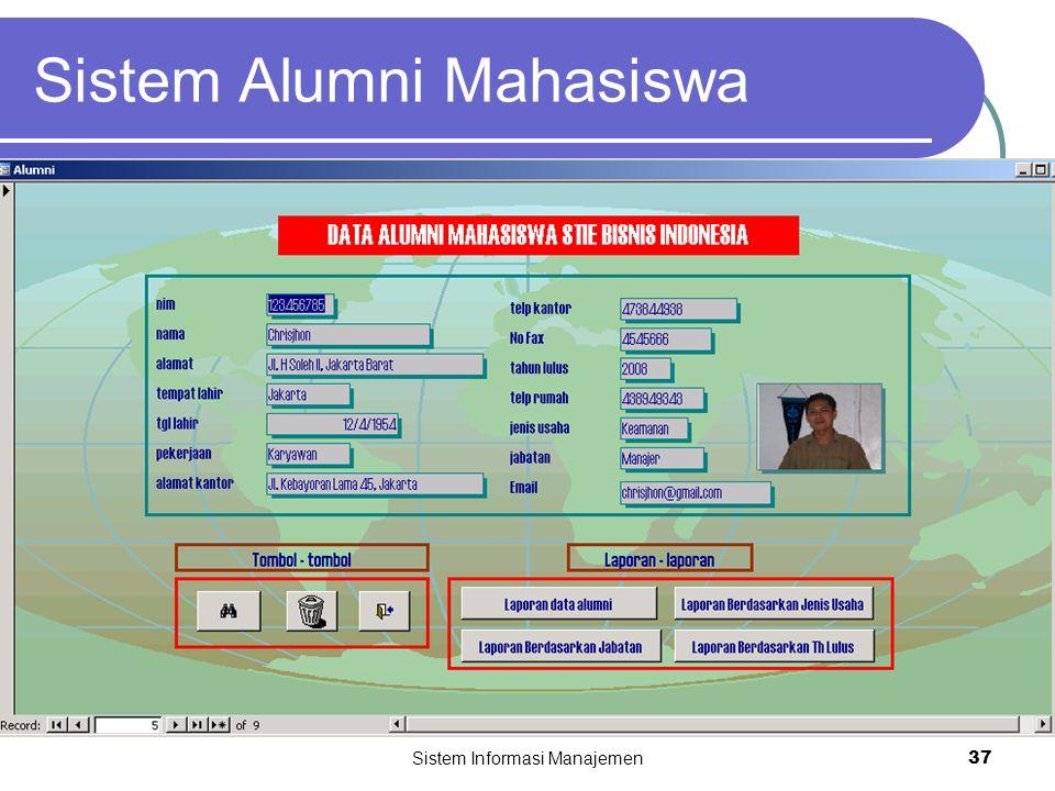 Sistem Informasi Manajemen37 Sistem Alumni Mahasiswa