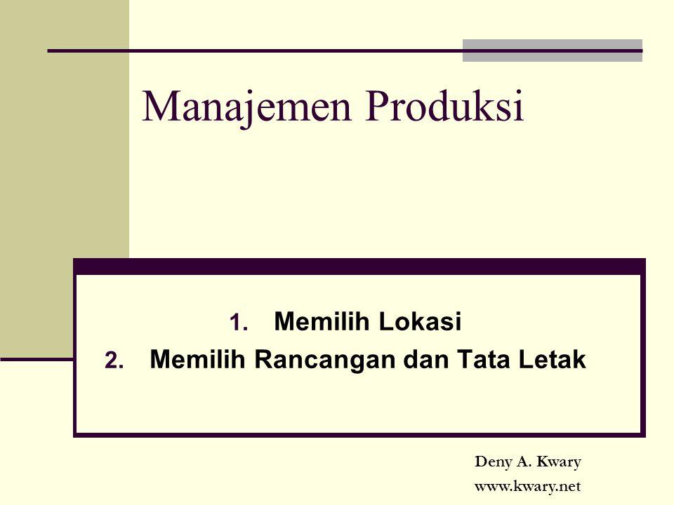 Manajemen Produksi 1. Memilih Lokasi 2. Memilih Rancangan dan Tata Letak Deny A. Kwary www.kwary.net