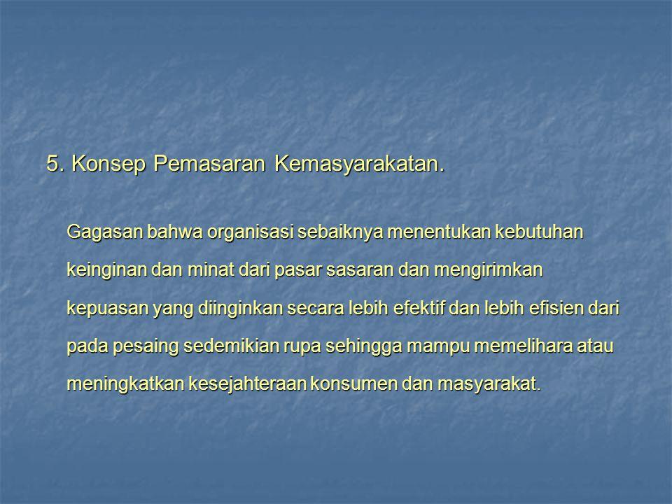 5.Konsep Pemasaran Kemasyarakatan. 5. Konsep Pemasaran Kemasyarakatan.