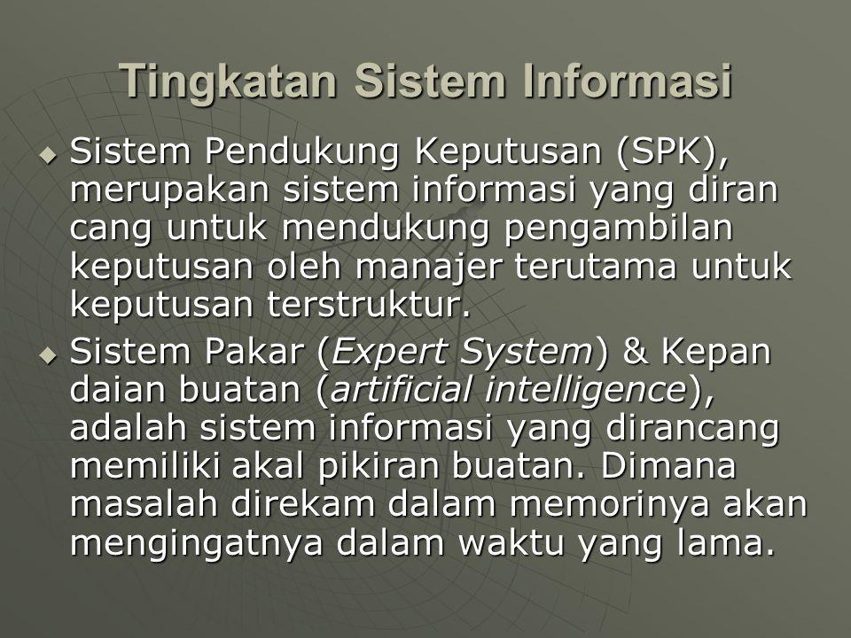  Sistem Pendukung Keputusan (SPK), merupakan sistem informasi yang diran cang untuk mendukung pengambilan keputusan oleh manajer terutama untuk keput